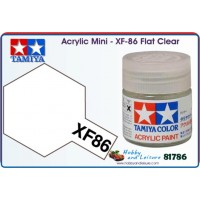 Tamiya acryl 10ml XF-86 Flat Clear