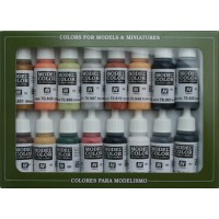 Vallejo 70107 Model color set 7: WWII german (16x17ml)