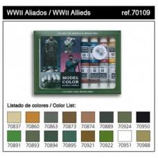 Vallejo 70109 Model color set  WWII Allied, (16x17ml)