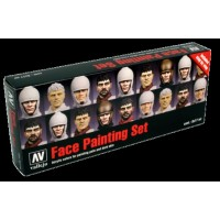 Vallejo 70119 model color set:, faces painting set Jaume Ortiz (8 x 17ml)