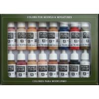 Vallejo 70125 model color set: face/skin colors (16x17ml)