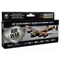 Vallejo 71145 RAF Colors Bomb. & Train. Air Com. 1939-45 (8x17ml)