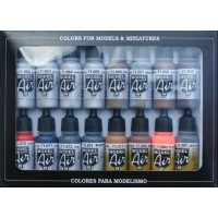 Vallejo 71181 model air set: metallic effects (16x17ml)