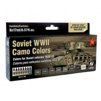 Vallejo 71188 Soviet WWII Camouflage colors 8x17ml