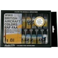 Vallejo 71189 model air set: WWII British colors RAF & FAA (16x17ml)