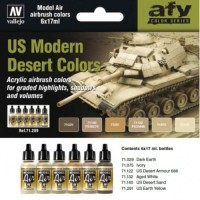 Vallejo 71209 US Modern Desert Colors 6x17ml