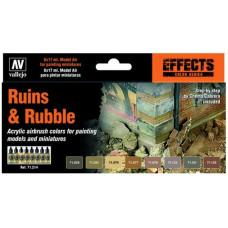 Vallejo Ruins & Rubble 8x17ml