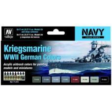 Vallejo Kriegsmarine WWII German Colors 8x17ml
