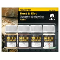 Vallejo 73190 Dust & Dirt Pigment 4x35ml set